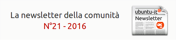 Newsletter italiana 021/2016