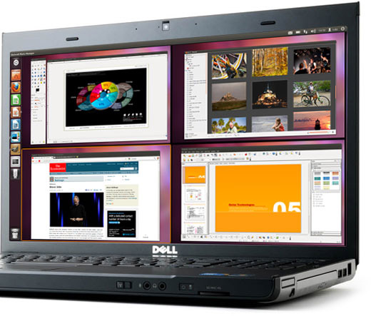 Ubuntu 11.10 su un laptop
