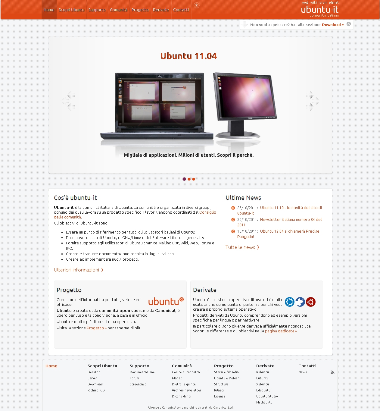 Ubuntu-it home page
